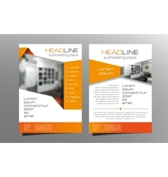 Red brochure flyer template design Leaflet vector image vector image