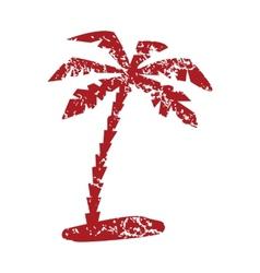 Red grunge travel logo vector