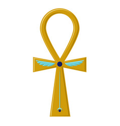 religious sign of the ancient egyptian cross - vector image