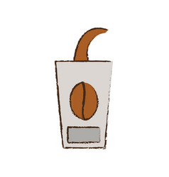 Skecth cup coffee to go vector
