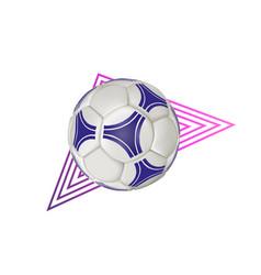 soccer ball - geometric modern realistic vector image vector image