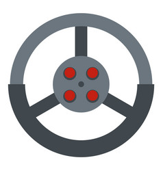 Steering wheel icon isolated vector