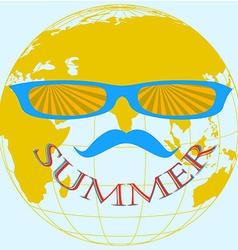 summer globe vector image
