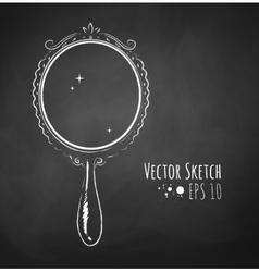Vintage mirror vector