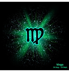 virgo luminous vector image vector image