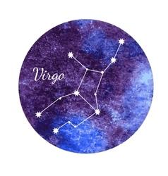 Watercolor horoscope sign Virgo vector image