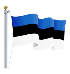 waving estonia flag isolated on a white background vector image vector image