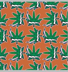 weed marijuana seamless pattern background vector image