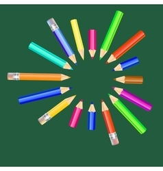 with colored pencils vector image vector image