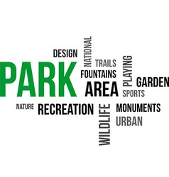 Word cloud park vector