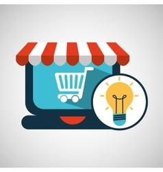 E-commerce concept idea creativity icon vector