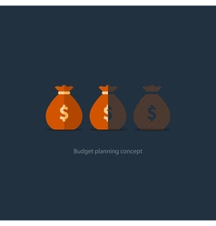 Financial investment plan budget management money vector image