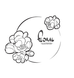 Bright floral template vector
