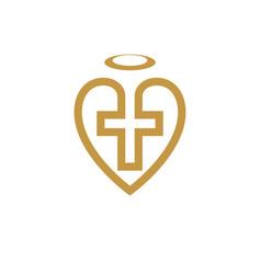 god christian love conceptual logo design vector image