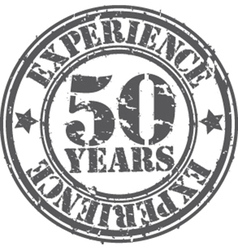Grunge 50 years of experience rubber stamp vector image
