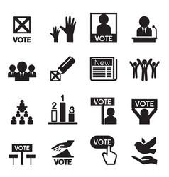 Democracy icon set vector