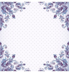 Seamless vintage background baroque pattern vector