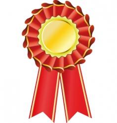 award seal rosette vector image