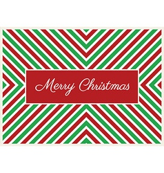 Striped Christmas Card vector image