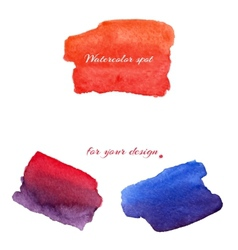 Watercolor spots for design elements vector