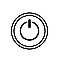 Icon of power button vector image
