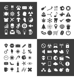 Set of 100 various general icons for your use vector