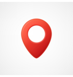 3d Map pointer icon Map Markers vector image vector image