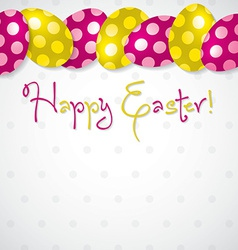 Bright egg happy easter card in format vector