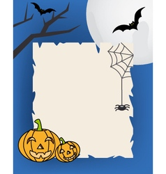 Halloween background with parchment vector