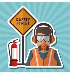 Safety icon design vector