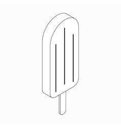 Ice cream icon isometric 3d style vector image