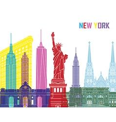 New york skyline pop vector