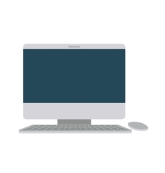 Computer desktop isolated icon design vector