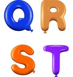 Alphabet letters qrst colors vector