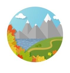 autumn mountains vector image vector image