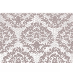 Baroque floral damask pattern background vector