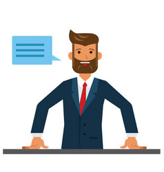 business man entrepreneur close up cartoon flat vector image