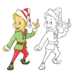 cute elf cartoon character vector image