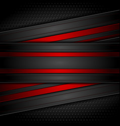 dark red and black contrast tech background vector image vector image