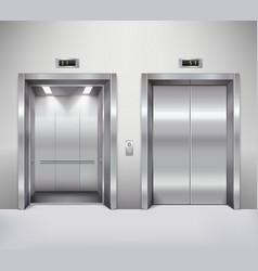 Elevator door vector