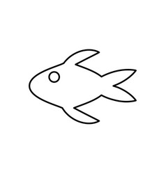 fish swimming icon vector image vector image