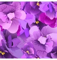 Flower violet seamless pattern vector image vector image
