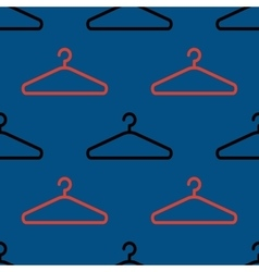Hanger pattern on dark background vector
