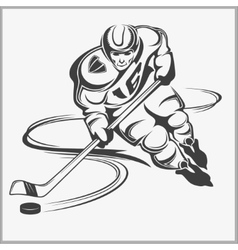 Hockey player - vector image