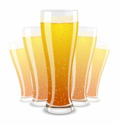 illustration of beer glasses vector image
