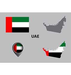 Map of united arab emirates and symbol vector