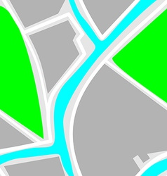 Map - Seamless Pattern Green Park Blue River White vector image vector image