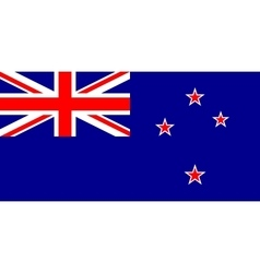 New Zealand flag in correct proportions and colors vector image