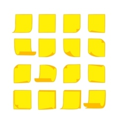 Note papers yellow 2 vector