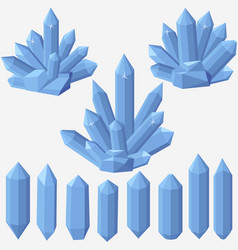 quartz geometric crystal vector image vector image